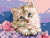 GMMH Diamond Picture 14 x 18 Diamond Painting Embroidery Painting Handmade Craft Mosaic Cat