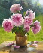 GMMH Diamond Painting Set Picture 30 x 40 Painting Peony Embroidery Handmade Craft Mosaic Flower Basket