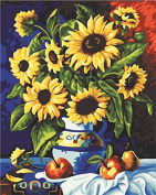 GMMH Diamond Picture 30 x 40 Diamond Painting Embroidery Painting Handmade Craft Mosaic Flower Basket Sunflower
