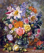 GMMH Diamond Picture 30 x 40 Diamond Painting Embroidery Painting Handmade Craft Mosaic Flower Basket Antique Bouquet