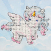 Unicorn Counted Bead Embroidery Kit 17x17 cm