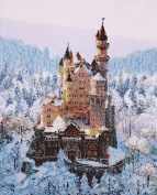 Castle Counted Bead Embroidery Kit 36x44 cm