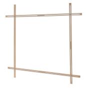 Elbesee Popular Adjustable Slot Frame, Wood, Brown, 1000 mm
