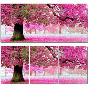 KAMIERFA Sakura Cherry Blossom Trees DIY Cross Stitch Embroidery Kit Home Decor Arts, Crafts & Sewing Cross Stitch