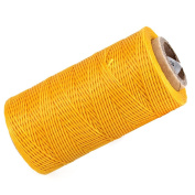 200 Metre 150D 1mm Waxed Wax Thread Cord Sewing Craft for DIY Leather Hand Stitching Yellow