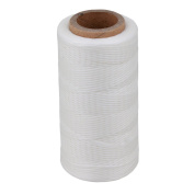 White 200 Metre 150D 1mm Waxed Wax Thread Cord Sewing Craft for DIY Leather Hand Stitching