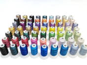 Simthread 63 Spool Brother Colours Polyester 120d/2 40 Weight Embroidery Machine Thread for Brother Machine 500M/spool
