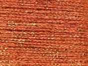 1mm Decorative Glitter Thread 10m Amber - each