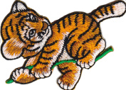 Iron on Patch Sew on Embroidered Application Cute little Tiger Baby Jungle Kids