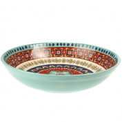 Certified International Monterrey Pasta/Serving Bowl, 34cm x 7.6cm , Multicolor