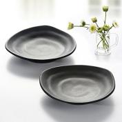 Kinglang Plastic Melamine Sauce Dish - Snack Dishes Black