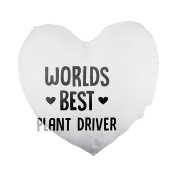 World's best Plant Driver Heart Shaped Pillow Cover