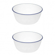 Corelle Livingware 830ml Super Soup/Cereal Bowl, Navy Blue (3 Bowls)