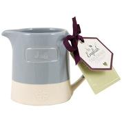 English Tableware Co. Artisan Creamer, Blue