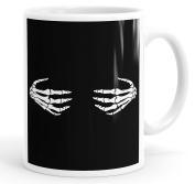 Naughty Skeleton Hands Bones Design Funny Coffee Mug Tea Cup