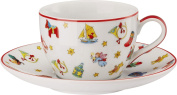Hutschenreuther Christmas Memories 40 Years with Ole Winther Cappuccino Cups, Porcelain, Red, 16 x 16 x 9 cm