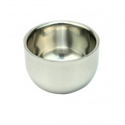 7.5*5.2 cm Men's Stainless Steel Shaving Mug Bowl Double Layer Heat Insulation Shave Soap Cup