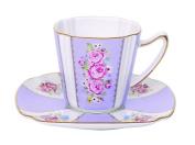 R2S 1507heli Heritage Ceramic Coffee Cup/Saucer 12.6 x 12 x 10 cm Multi-Coloured