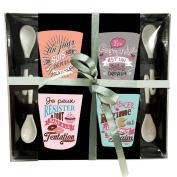 Espresso cups with spoon Prose Gourmande
