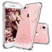 iPhone 8 Case, iPhone 7 Case, Cover iPhone 7, MOSNOVO Cherry Blossom Floral Printed Flower Clear Design Transparent Case with TPU Gel Bumper Protective Case Cover for iPhone 7 (2016) / iPhone 8