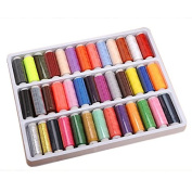 Tenflyer 39 Rolls Assorted Colour Spools Cotton Thread For Sewing Hand Machine