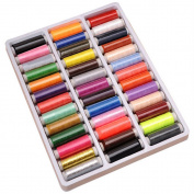 Sanwood 39Pcs Mixed Colours Polyester Sewing Thread - Random Colour