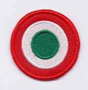 IRON ON EMBROIDERED PATCH COCCARDA ITALIA