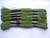 Pack of 6 Trebla Embroidery Thread / Skeins - 8m - Wellie Green - Col. 616