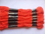 Pack of 6 Trebla Embroidery Thread / Skeins - 8m - Burnt Orange - Col. 315