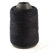 Water & Wood Hand Embroidery Sewing Quilting Thread Spool Reel Roll Black w Needle by Waterwood