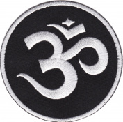 iron on patch sew on Embroidered patch Om Aum Sign Badge Emblem Sanskrit Meditation