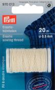 Prym 0.5 mm 20 m Elastic Sewing Thread, Natural White