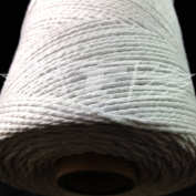 100 Metres, WHITE (SOLID COLOUR) BEAUTIFUL BAKERS TWINE 100% COTTON 2mm 2 PLY MADE IN THE UK - STRING CORD CRAFT PAPER - FREE UK DELIVERY