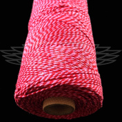 1 Metre, RED/ROSE PINK BEAUTIFUL BAKERS TWINE 100% COTTON 2mm 2 PLY MADE IN THE UK - STRING CORD CRAFT PAPER - FREE UK DELIVERY