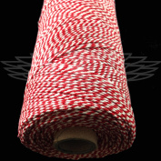 1 Metre, BEEFEATER RED BEAUTIFUL BAKERS TWINE 100% COTTON 2mm 2 PLY MADE IN THE UK - STRING CORD CRAFT PAPER - FREE UK DELIVERY