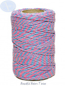 Sky Blue & Rose Pink - 50m Roll of BAKERS Twine