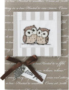 Luca-S LSP-25 Card Embroidery Kit / Motif Owl Declaration / 14.5 x 10 cm