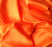 Bright Orange Satin Silky Fabric Plain Dress And Craft Material 150cm Wide - £2.85 metre