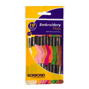 Korbond Embroidery Floss, Light
