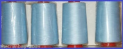 Sky Blue 45 Overlocking Sewing Machine Polyester Thread Four 5000 Yards Cones