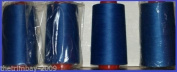 Royal Blue 94 Overlocking Sewing Machine Polyester Thread Four 5000 Yards Cones