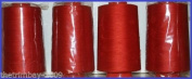 Red 29 Overlocking Sewing Machine Polyester Thread Four 5000 Yards Cones