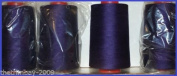 Purple 27 Overlocking Sewing Machine Polyester Thread Four 5000 Yards Cones
