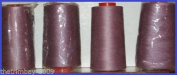 Mauve 24 Overlocking Sewing Machine Polyester Thread Four 5000 Yards Cones