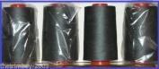 Dark Grey 65 Overlocking Sewing Machine Polyester Thread Four 5000 Yards Cones