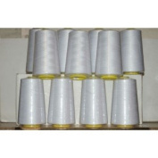White Overlocking Sewing Machine Polyester Thread Four 5000 Yards Cones
