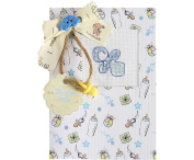 Luca-S LSP-5 Card Embroidery Kit / Baby Boy Pattern / 14.5 x 10 cm
