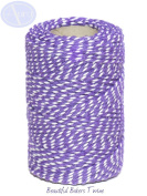 Violet & White - 50m Roll of BAKERS Twine - 100% Cotton - .