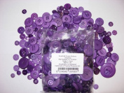KosiKrafts 1 Bag Of 100g Art & Craft PURPLE Sewing BUTTONS. Various Sizes