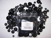 2 x 100g Bags KosiKrafts Art And Crafts BLACK Sewing BUTTONS